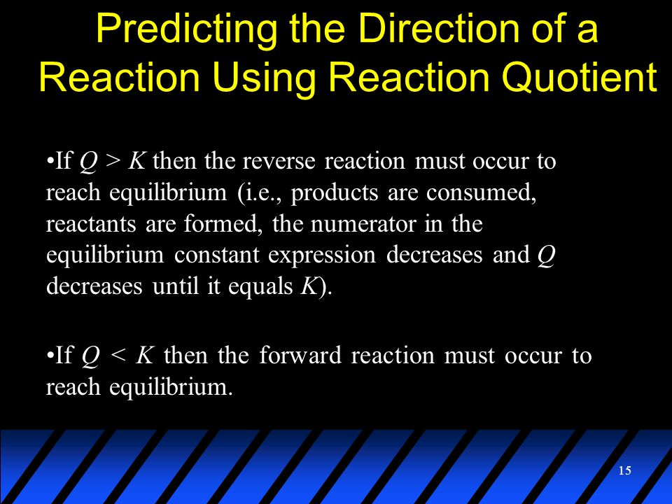 Predicting the Direction of a Reaction Using Reaction Quotient