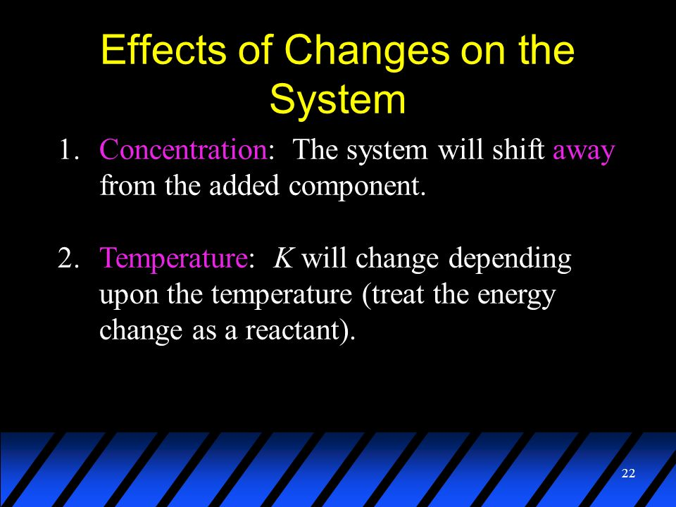 Effects of Changes on the System