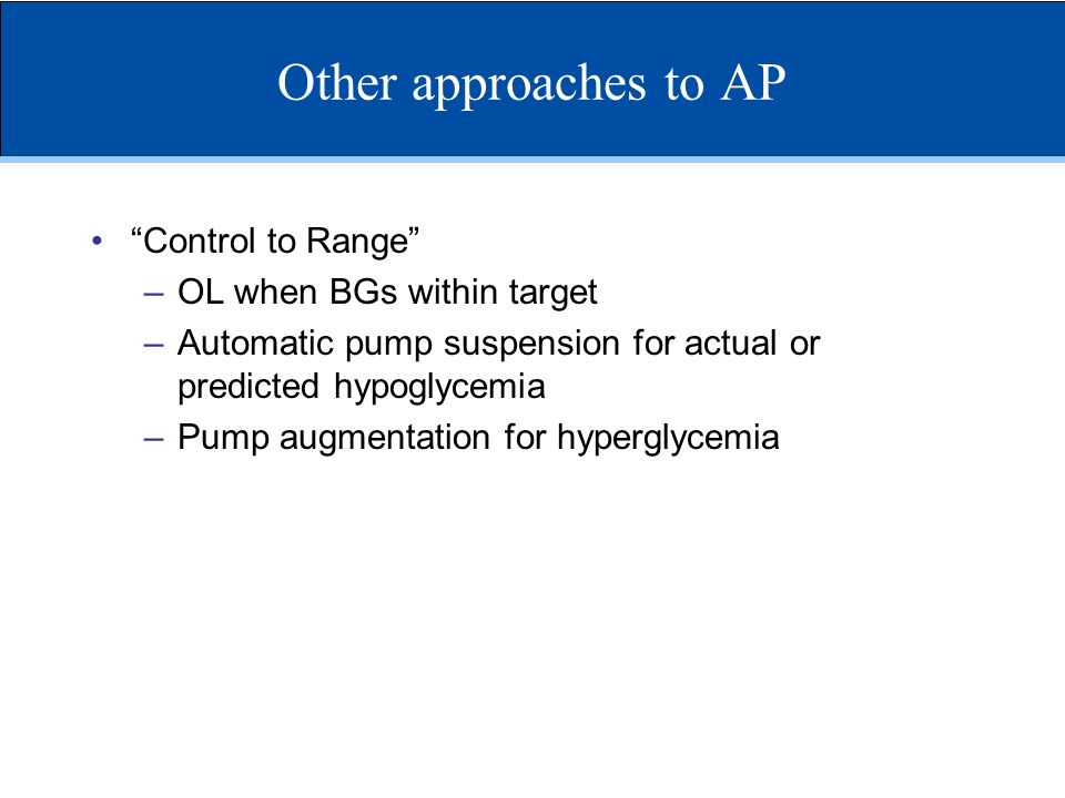 Other approaches to AP Control to Range OL when BGs within target