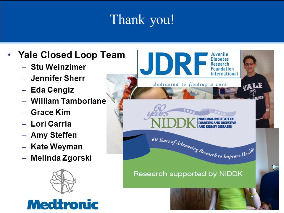 Thank you! Yale Closed Loop Team Stu Weinzimer Jennifer Sherr