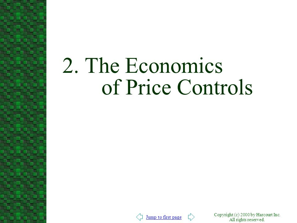 2. The Economics of Price Controls