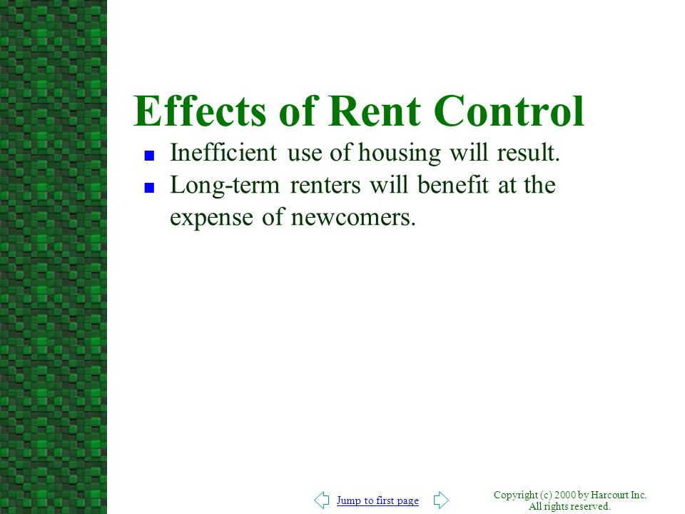 Effects of Rent Control