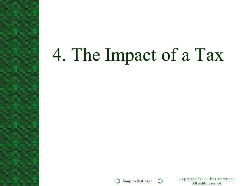 4. The Impact of a Tax