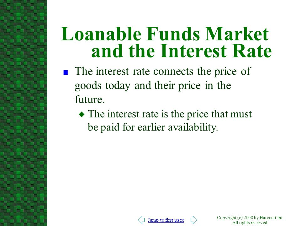 Loanable Funds Market and the Interest Rate