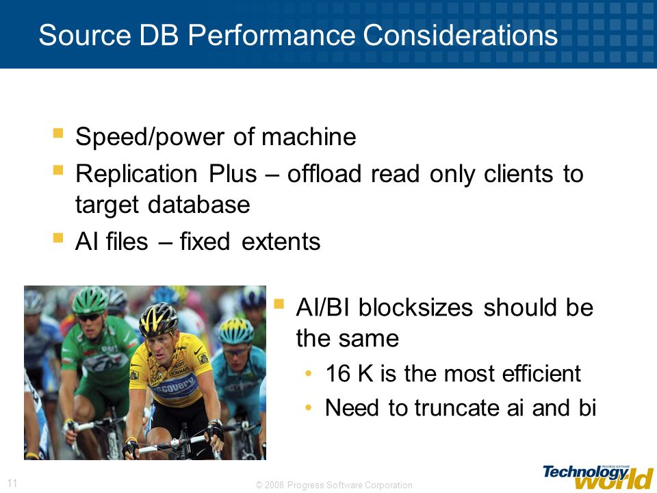 Source DB Performance Considerations