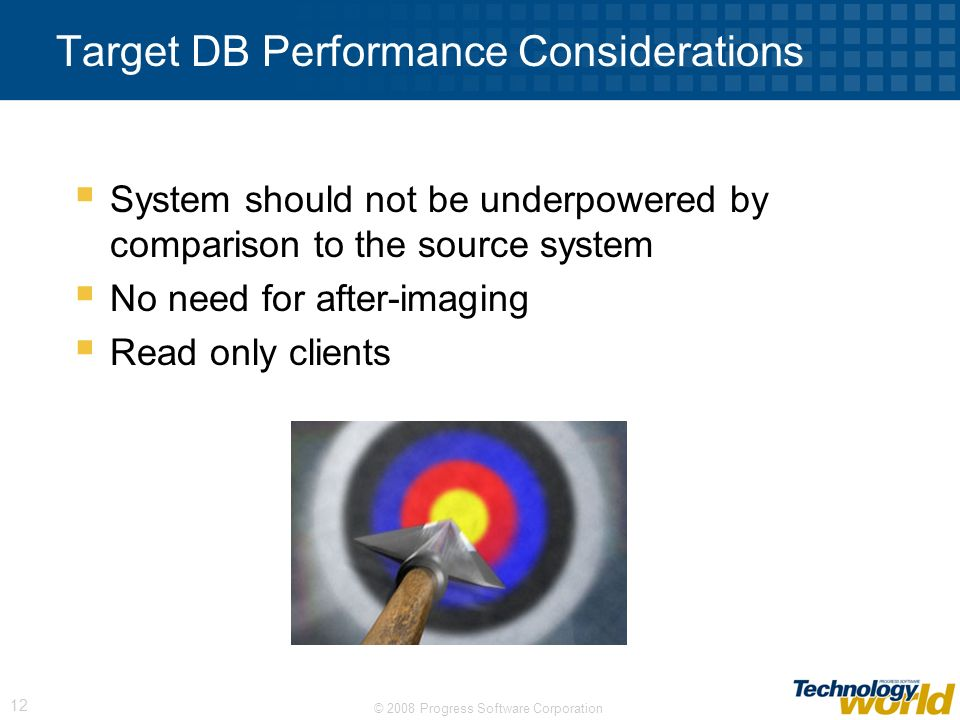 Target DB Performance Considerations