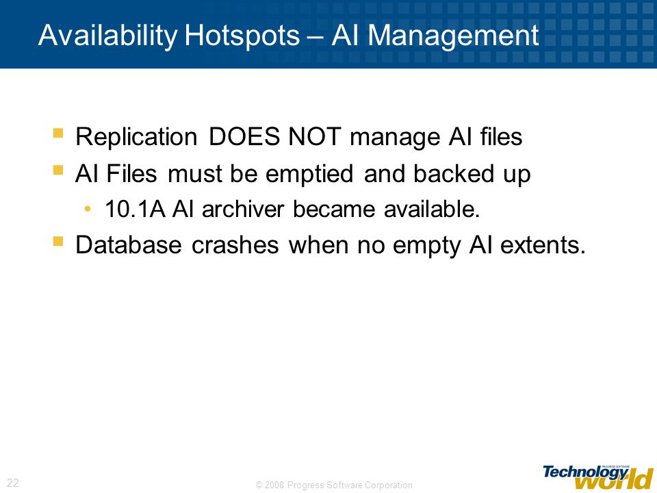 Availability Hotspots – AI Management