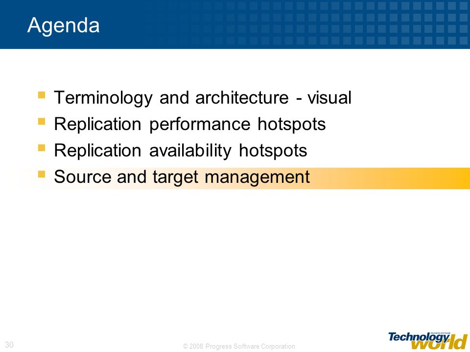 Agenda Terminology and architecture - visual