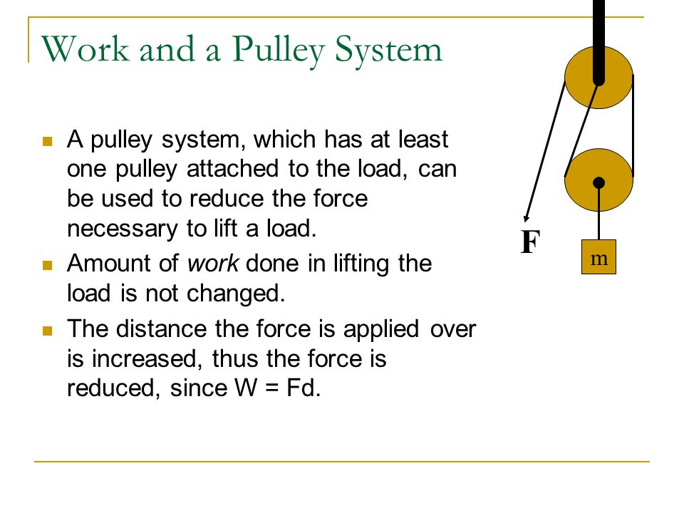 Work and a Pulley System