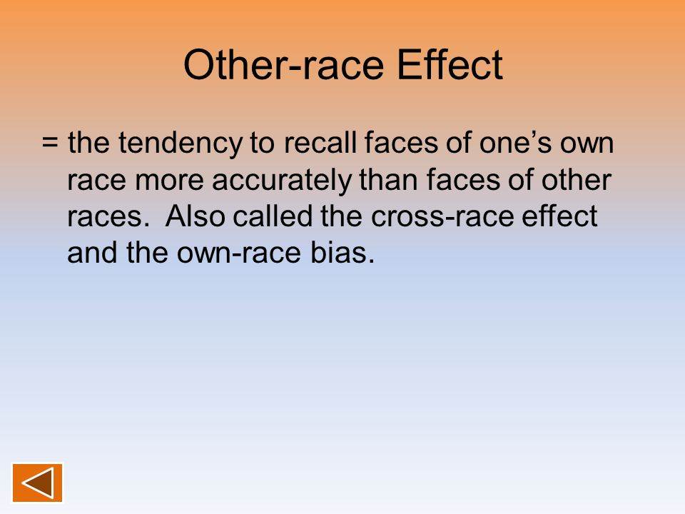 Other-race Effect