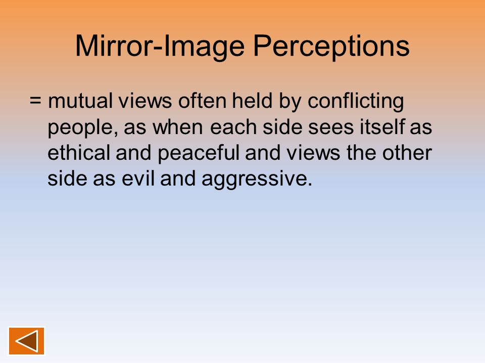Mirror-Image Perceptions