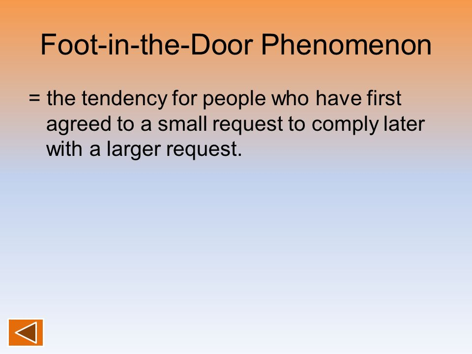Foot-in-the-Door Phenomenon