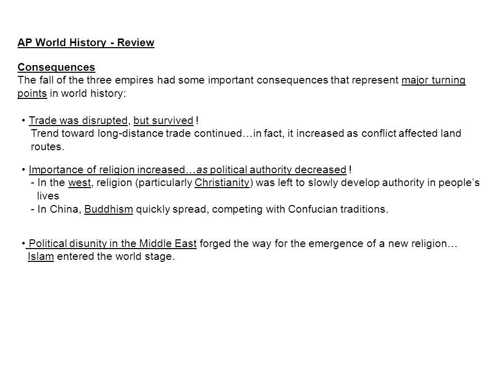 AP World History - Review