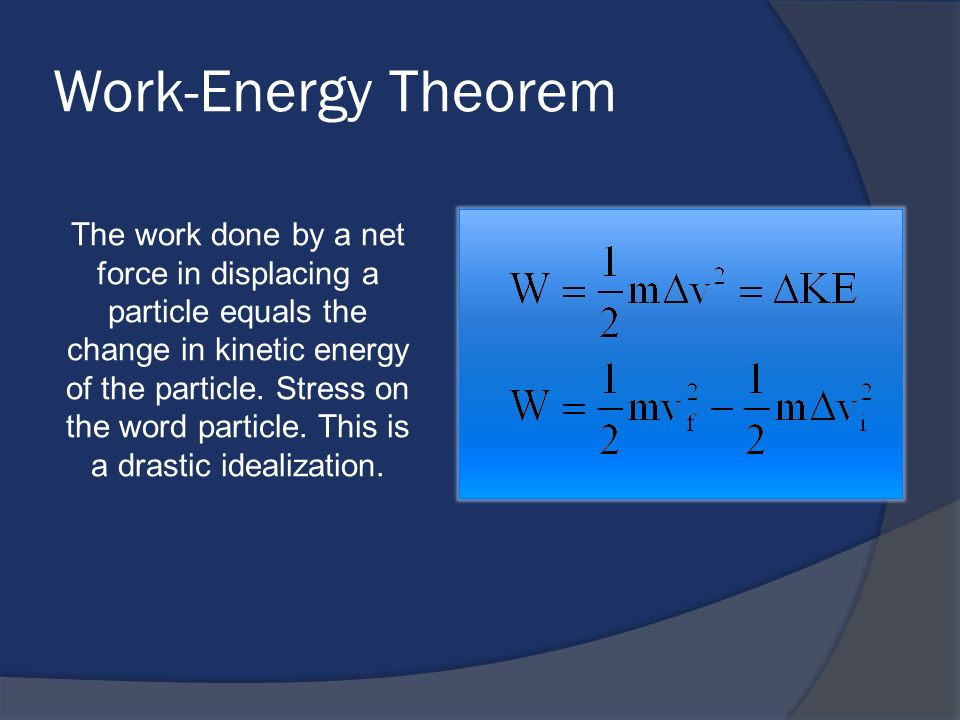Work-Energy Theorem