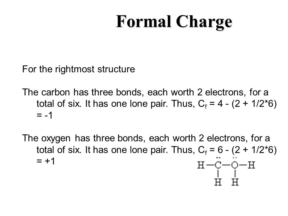 Formal Charge For the rightmost structure