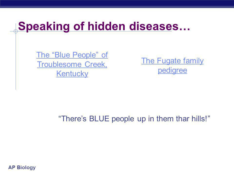 Speaking of hidden diseases…