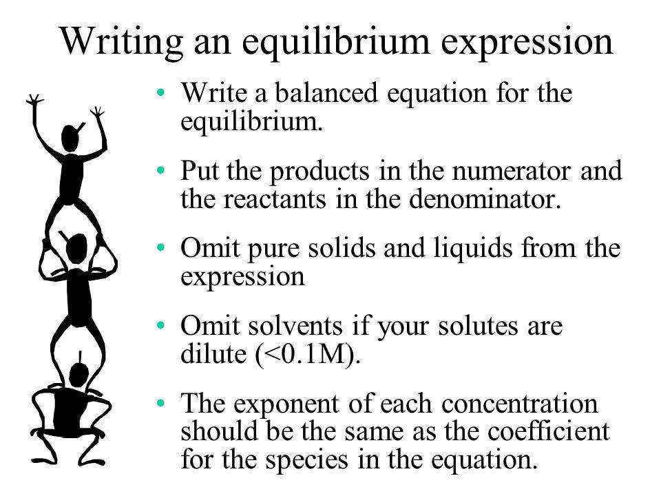 Writing an equilibrium expression