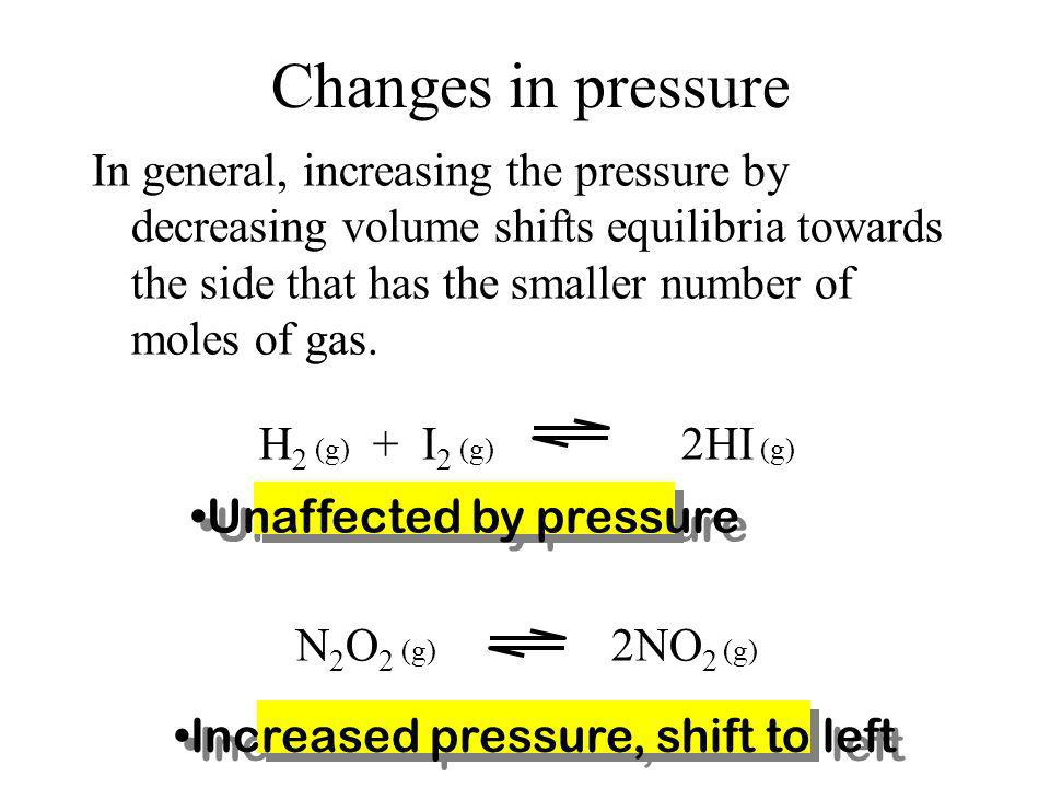 Changes in pressure