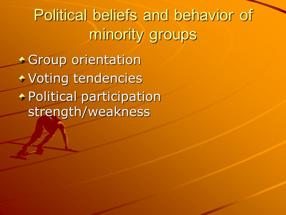 Political beliefs and behavior of minority groups