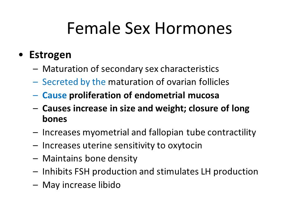 Female Sex Hormones Estrogen