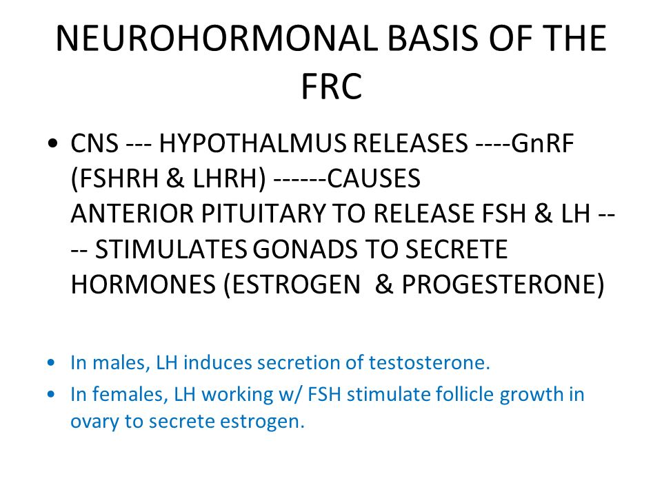 NEUROHORMONAL BASIS OF THE FRC