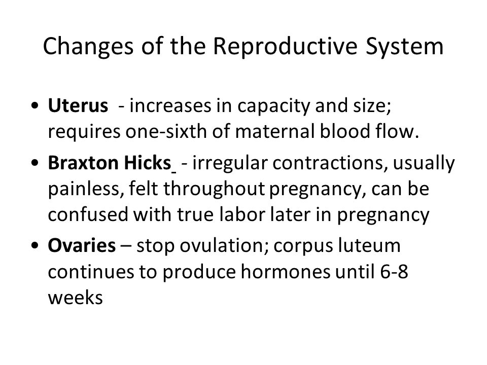 Changes of the Reproductive System