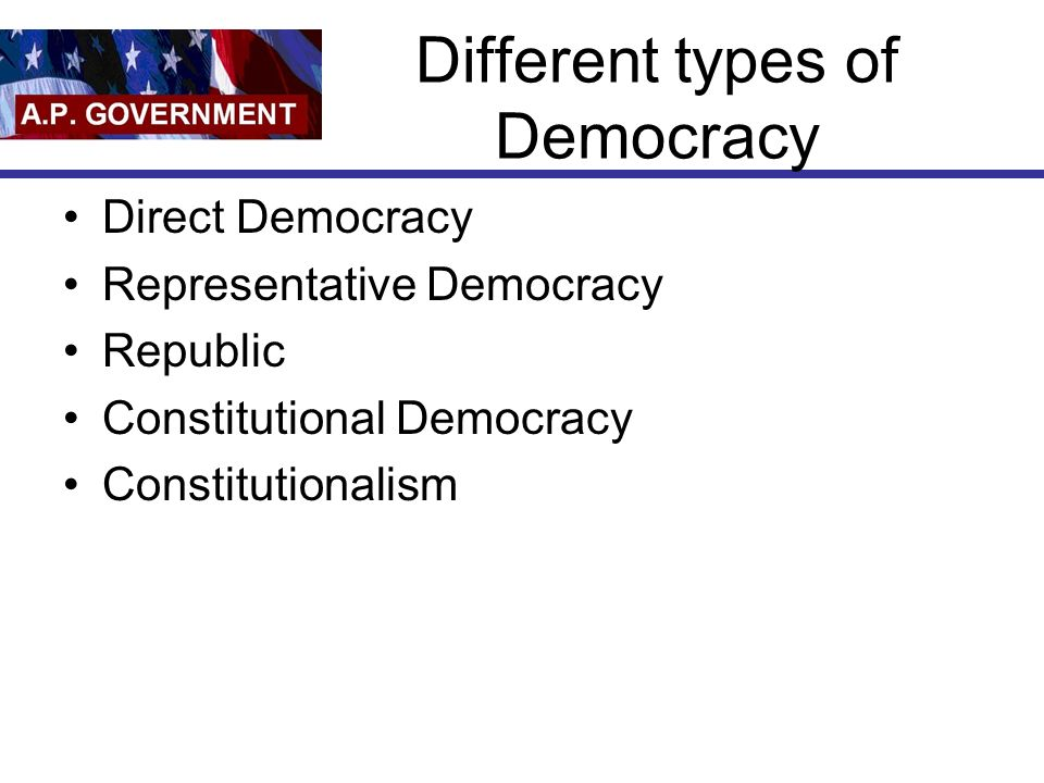 Different types of Democracy