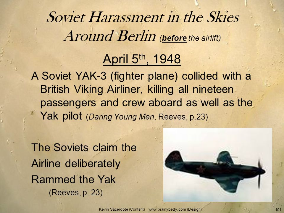 Soviet Harassment in the Skies Around Berlin (before the airlift)