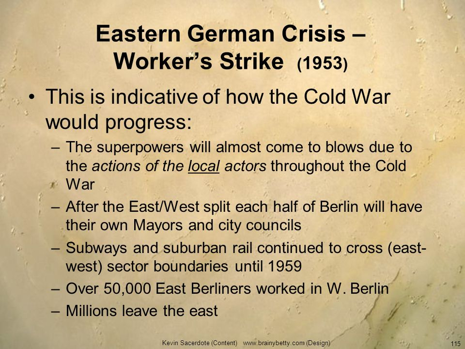 Eastern German Crisis – Worker's Strike (1953)