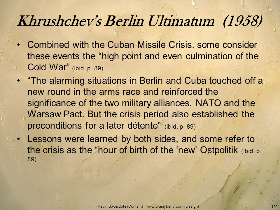 Khrushchev's Berlin Ultimatum (1958)