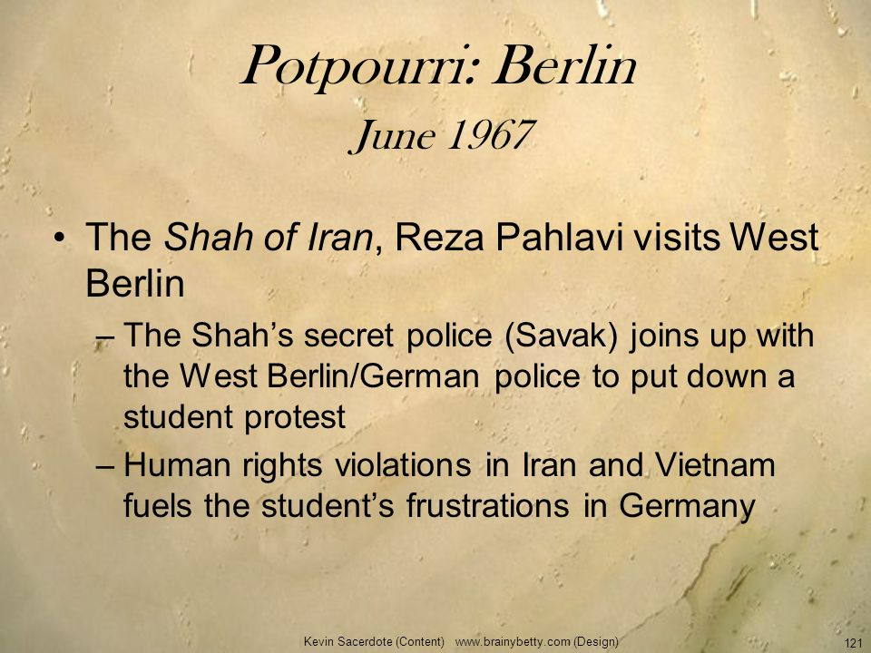Potpourri: Berlin June 1967