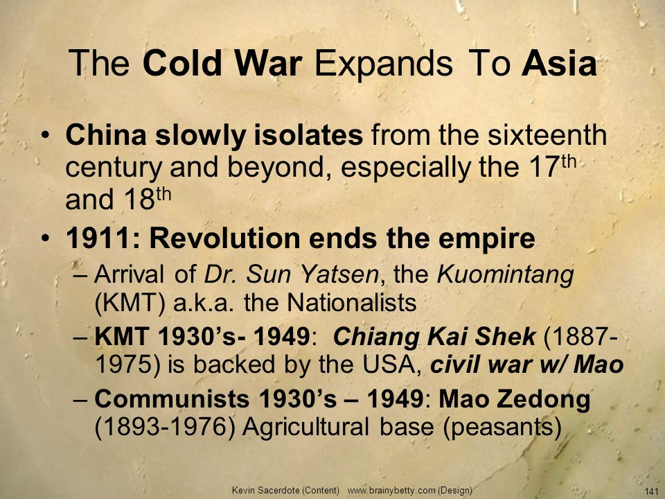 The Cold War Expands To Asia