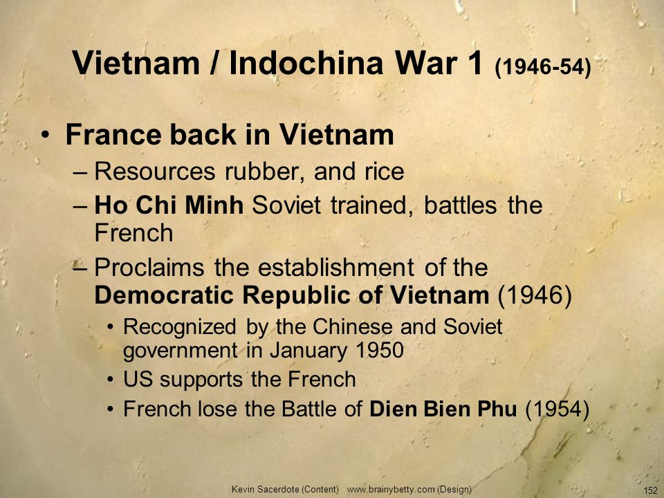 Vietnam / Indochina War 1 ( )