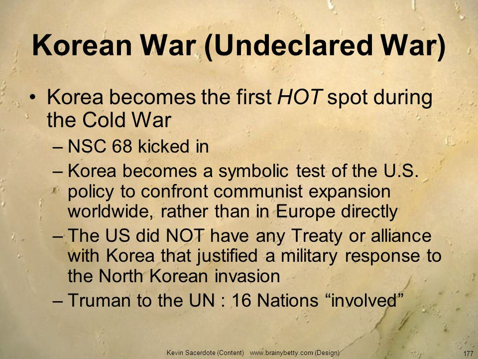 Korean War (Undeclared War)