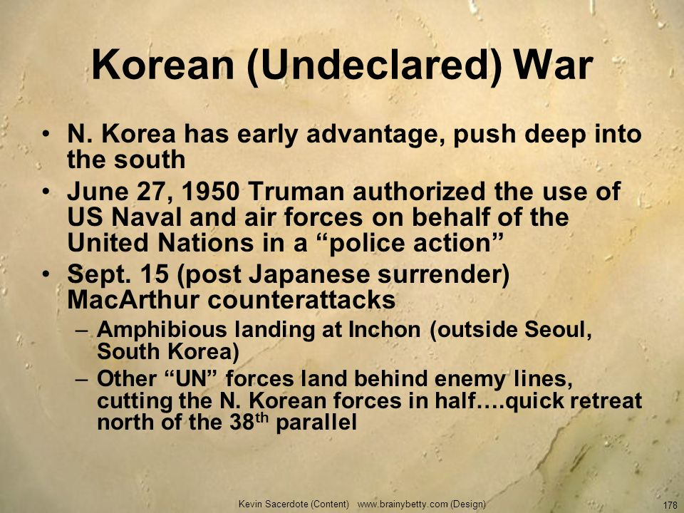 Korean (Undeclared) War