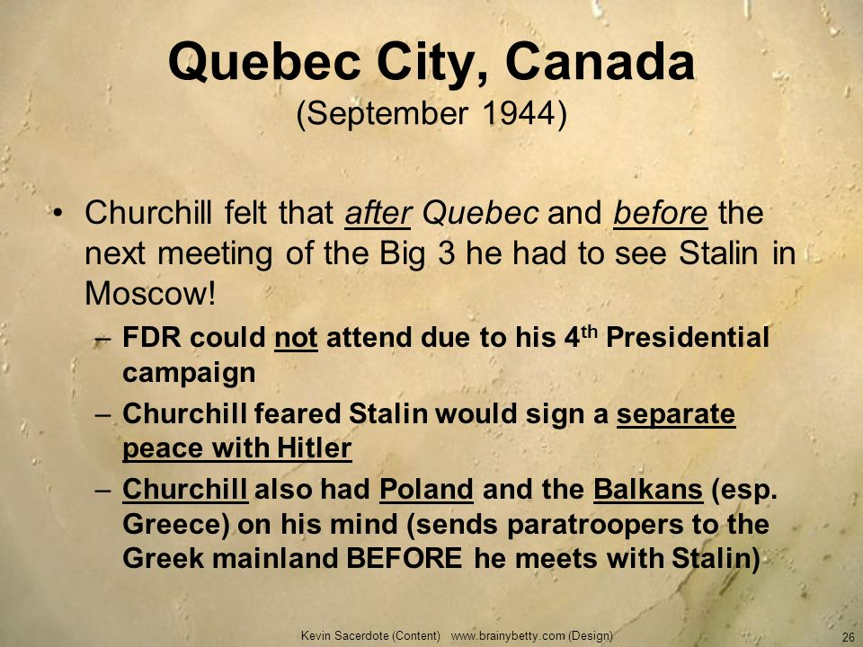 Quebec City, Canada (September 1944)