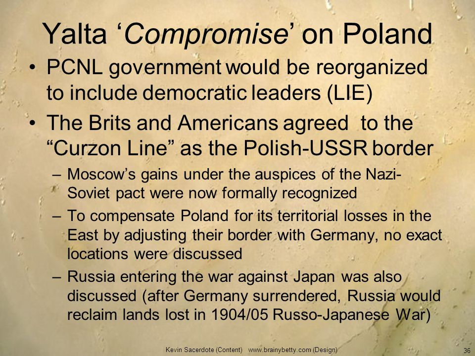 Yalta 'Compromise' on Poland