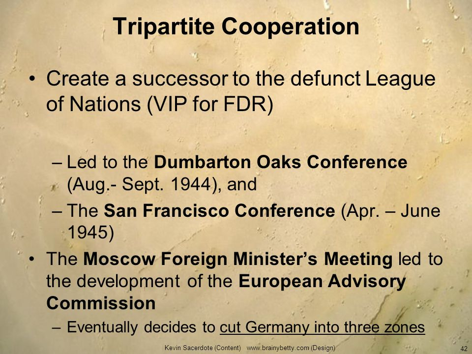 Tripartite Cooperation