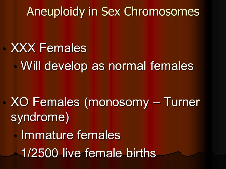 Aneuploidy in Sex Chromosomes
