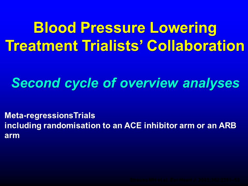 Blood Pressure Lowering Treatment Trialists' Collaboration Second cycle of overview analyses
