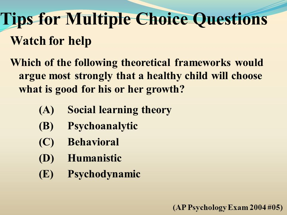 Tips for Multiple Choice Questions - ppt download