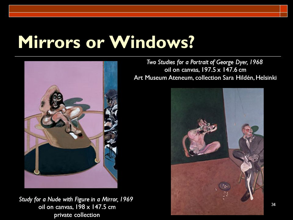 Mirrors or Windows Two Studies for a Portrait of George Dyer, 1968
