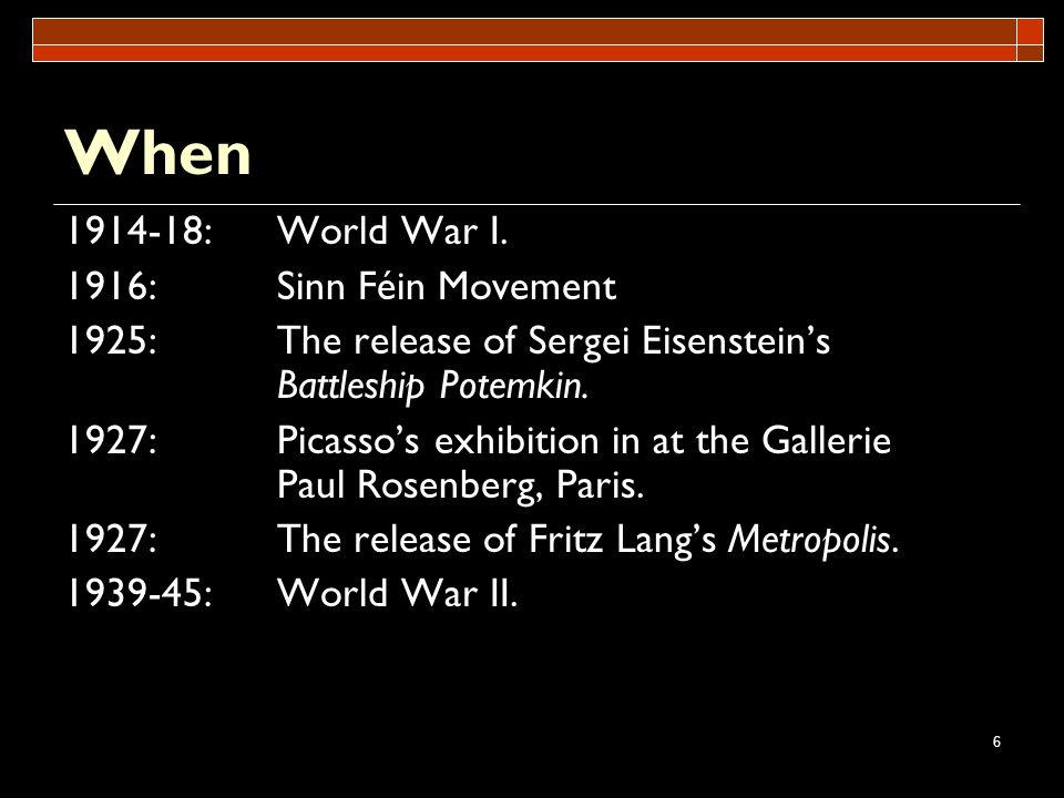 When : World War I. 1916: Sinn Féin Movement