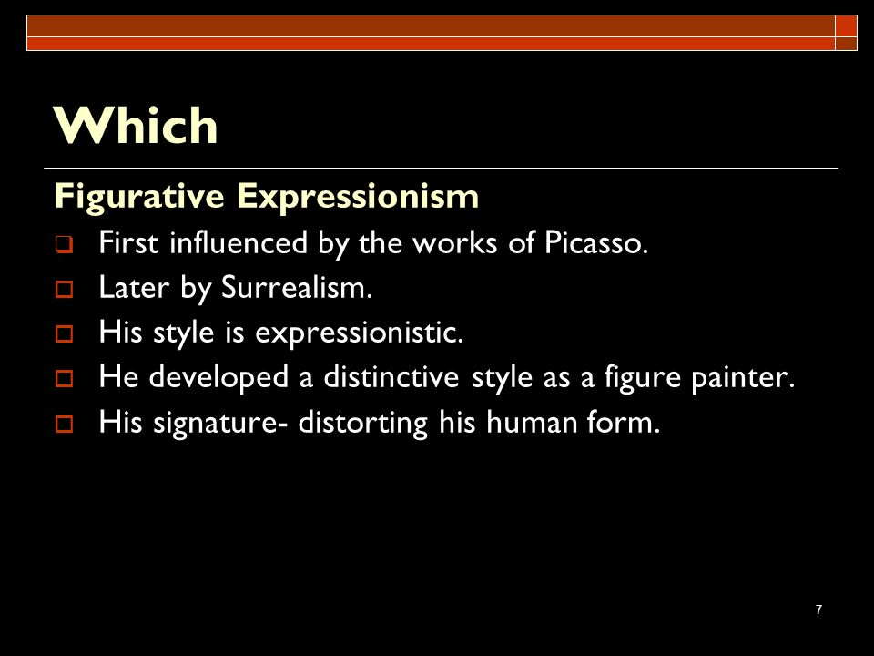Which Figurative Expressionism