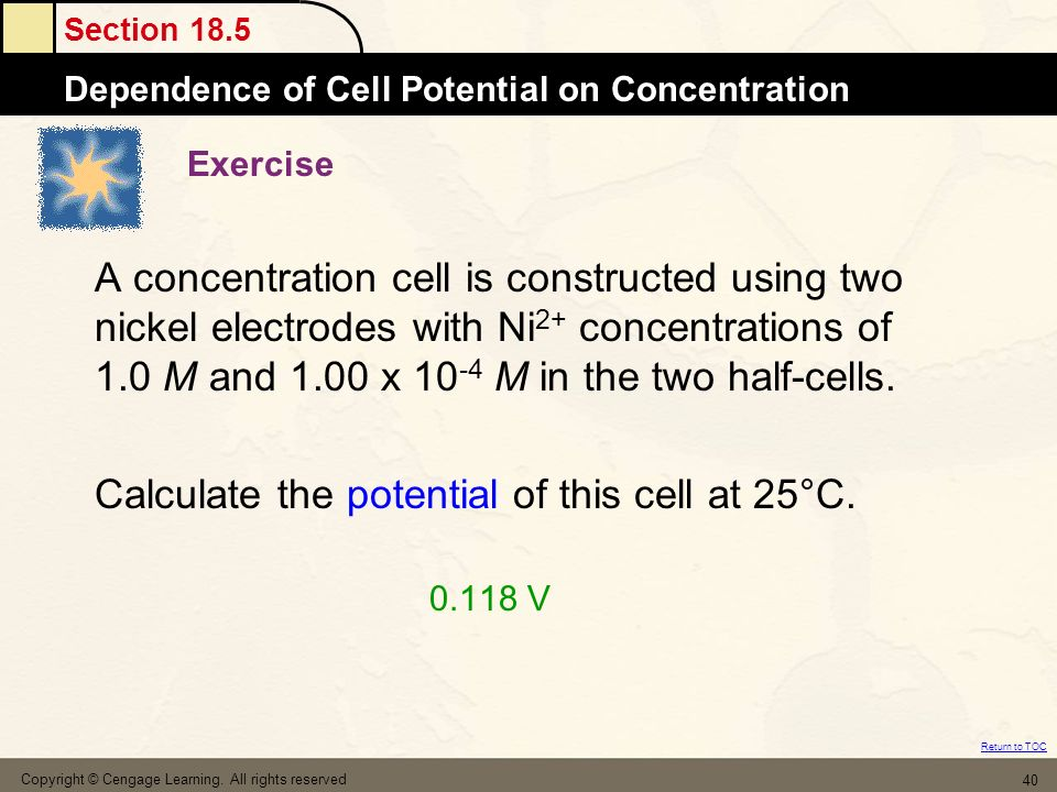 Calculate the potential of this cell at 25°C. 0.118 V