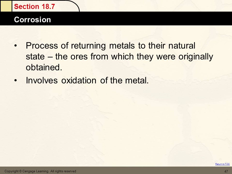 Involves oxidation of the metal.