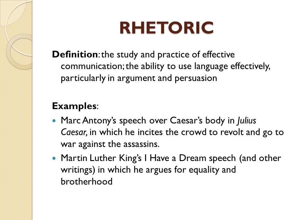 rhetoric literary definition