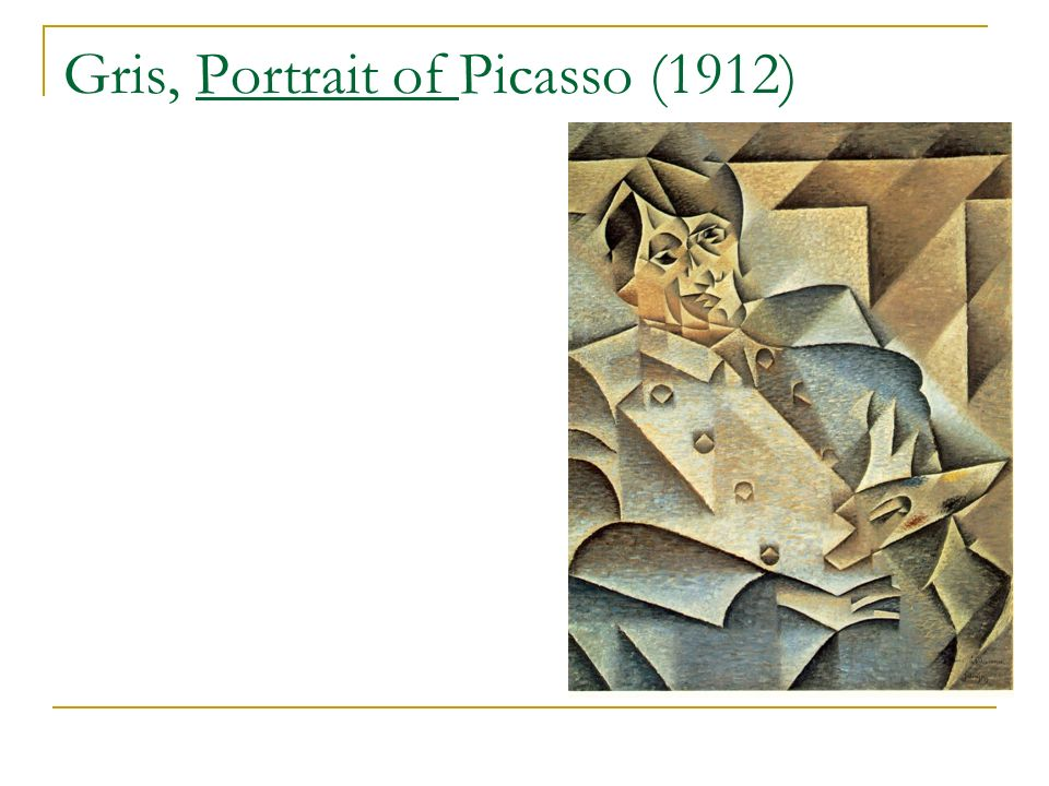 Gris, Portrait of Picasso (1912)