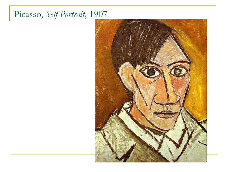 Picasso, Self-Portrait, 1907