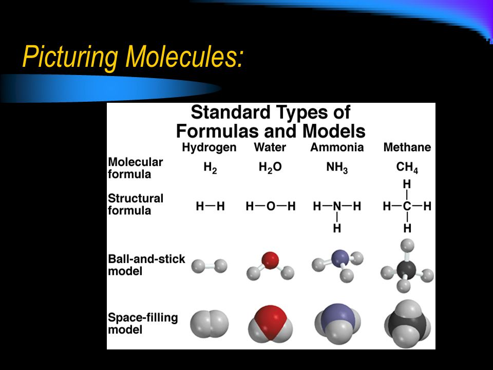 Picturing Molecules:
